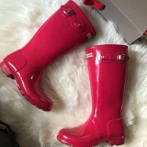 "Hunter ""Bright Pink "" Rain boots"